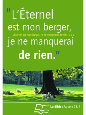 Affiche - L'Eternel est mon Berger