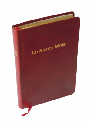 Bible skinluxe grenat, tranche or, format de poche