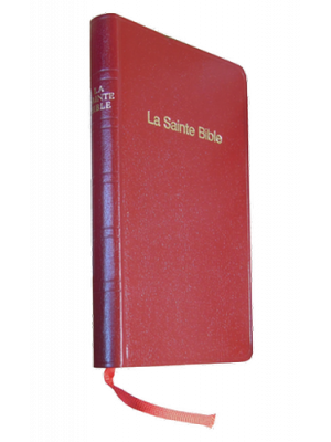 Bible skivertex grenat, semi-rigide, format de poche