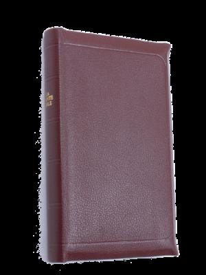 Bible cuir grenat, petit format
