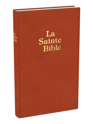 Bible grand format, couv. rigide, brun