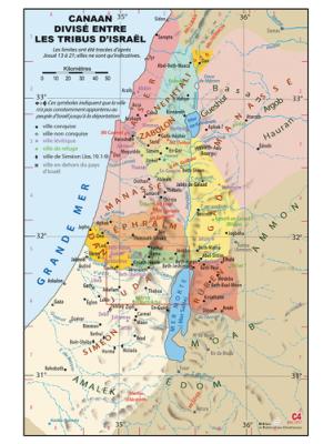 Carte murale : Les tribus d'Israël