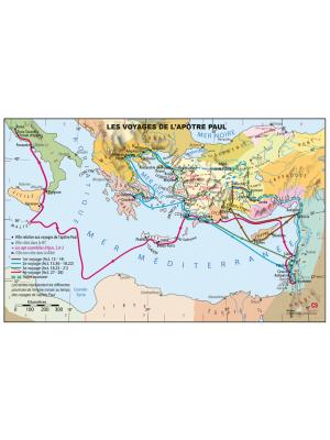 Carte murale : Voyages de l'Apôtre Paul