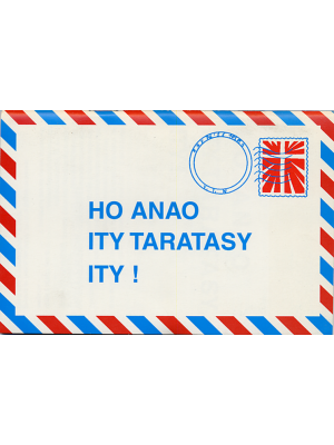 Une lettre pour vous, malgache