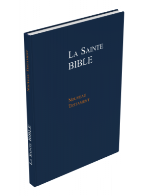Nouveau Testament Format Large, rigide, bleu