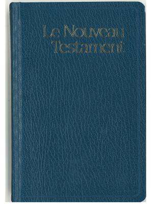Nouveau Testament format de poche, rigide, bleu