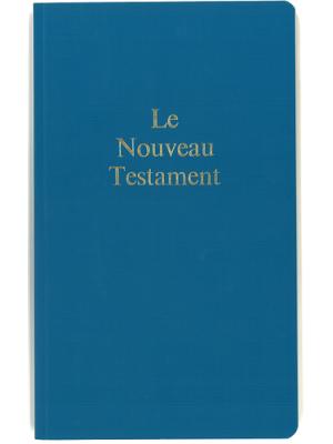 Nouveau Testament grand format, broché, bleu