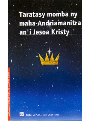 Lettre sur la divinité de Jésus Christ, malgache