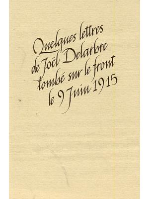 Lettres de Joël Delarbre
