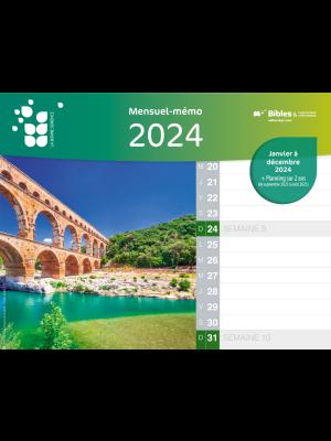 Calendrier Mensuel-mémo 2020