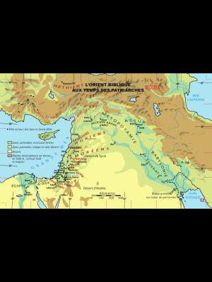 Carte murale : L'Orient biblique au temps des Patriarches