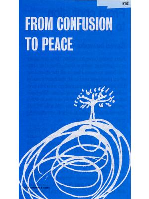 De la confusion à la paix, Anglais