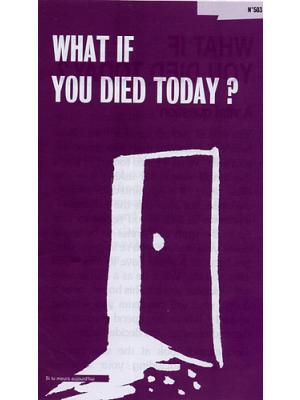 Si tu meurs aujourd'hui, Anglais