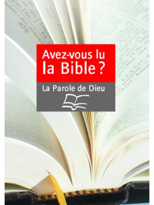 Affiche - Avez-vous lu la Bible ?