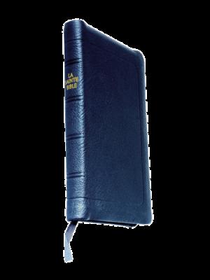 Bible à rebords cuir noir, format de poche