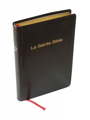 Bible skinluxe noir, tranche or, format de poche