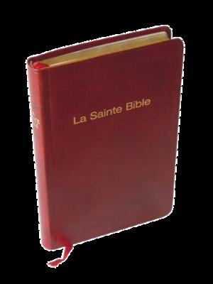 Bible skinluxe grenat, tranche or, format de poche