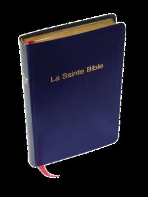 Bible skinluxe bleu, tranche or, format de poche