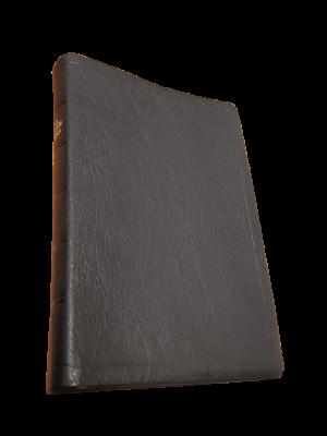 Bible cuir noir, sans rebords, grandes marges, format moyen 40 g
