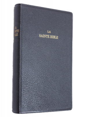 Bible cuir noir, grand format