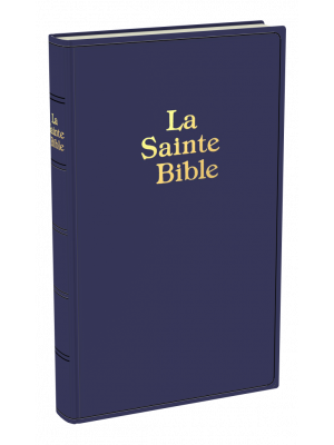 Bible simili cuir, bleu, semi-rigide, grand format