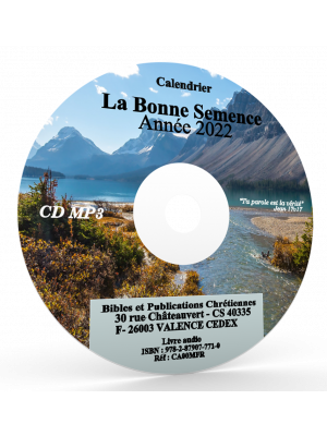 La Bonne Semence - 1 CD MP3, 2020