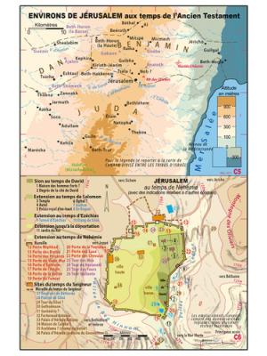 Carte murale : Jérusalem