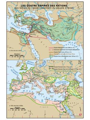 Carte murale : Les quatre empires