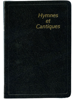 Hymnes et cantiques skinluxe souple, noir, tranches or, petit format
