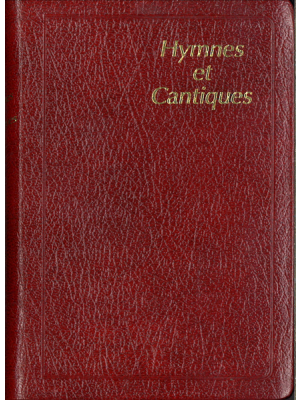 Hymnes et cantiques skinluxe souple, grenat, tranches or, petit format