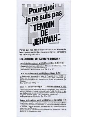 Pourquoi je ne suis pas témoin de Jehovah ?