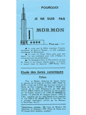 Pourquoi je ne suis pas mormon ?